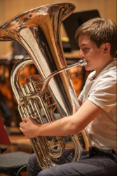 ... talented young Tuba player